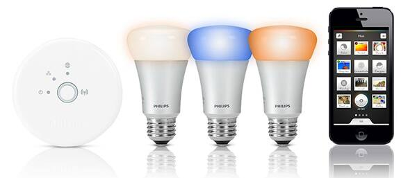 The Philips Hue is a 360- to 600-lumen smart bulb offering 'millions' of colors.