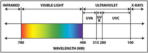 Image of UV wavelengths